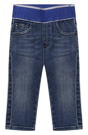 Детские джинсы EMPORIO ARMANI синего цвета, арт. 3KHJ07/4D2JZ | Фото 1