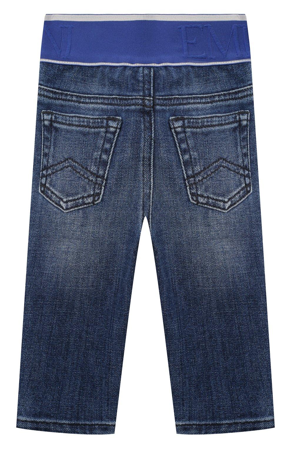 Детские джинсы EMPORIO ARMANI синего цвета, арт. 3KHJ07/4D2JZ   Фото 2