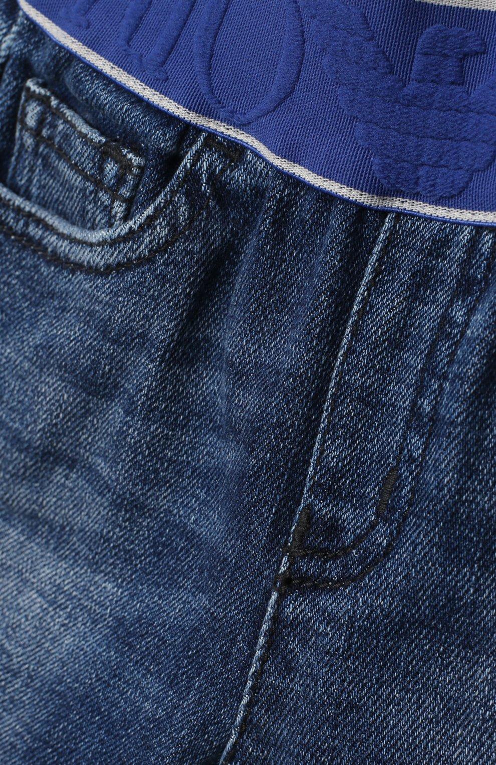 Детские джинсы EMPORIO ARMANI синего цвета, арт. 3KHJ07/4D2JZ   Фото 3