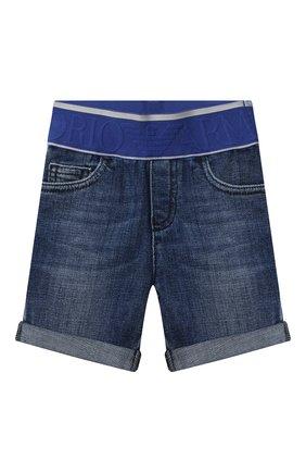 Детские джинсовые шорты EMPORIO ARMANI синего цвета, арт. 3KHS04/4D2JZ | Фото 1