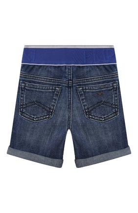 Детские джинсовые шорты EMPORIO ARMANI синего цвета, арт. 3KHS04/4D2JZ | Фото 2