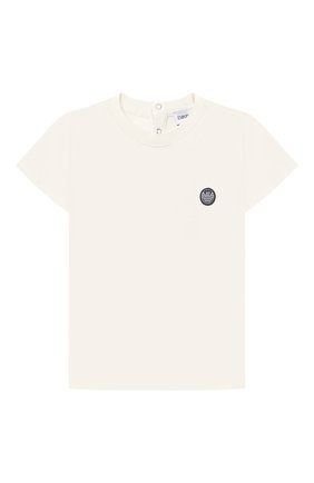 Детский хлопковая футболка EMPORIO ARMANI белого цвета, арт. 3KHTJ2/4J4JZ | Фото 1