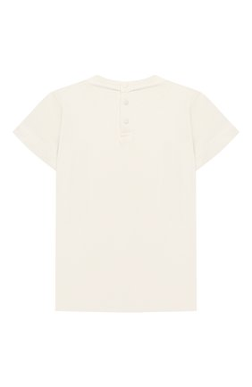 Детский хлопковая футболка EMPORIO ARMANI белого цвета, арт. 3KHTJ2/4J4JZ | Фото 2