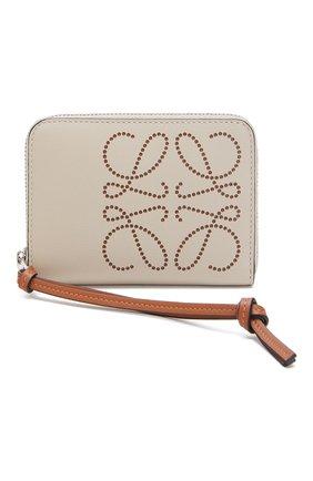 Женские кожаный кошелек LOEWE светло-бежевого цвета, арт. 103.54.V32   Фото 1