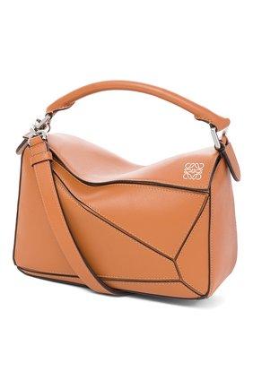 Женская сумка puzzle LOEWE светло-коричневого цвета, арт. 322.30.S21 | Фото 1