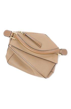 Женская сумка puzzle LOEWE бежевого цвета, арт. 32212KBS21 | Фото 2