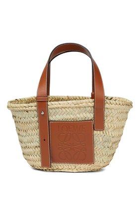 Женский сумка basket LOEWE бежевого цвета, арт. 327.02.S93 | Фото 1