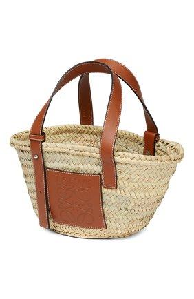 Женский сумка basket LOEWE бежевого цвета, арт. 327.02.S93 | Фото 2