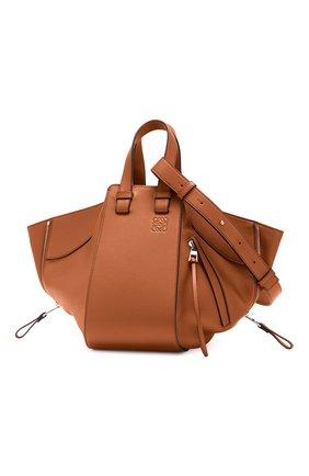 Женская сумка hammock small LOEWE светло-коричневого цвета, арт. 387.30.S35 | Фото 1