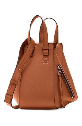 Женская сумка hammock small LOEWE светло-коричневого цвета, арт. 387.30.S35 | Фото 2