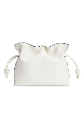 Женская сумка flamenco mini LOEWE белого цвета, арт. A411FC2X05 | Фото 1