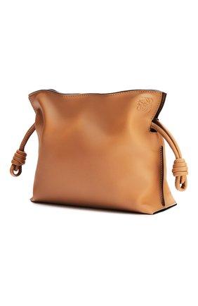 Женская сумка flamenco mini LOEWE бежевого цвета, арт. A411FC2X05 | Фото 2