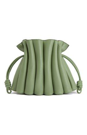 Женская сумка flamenco LOEWE зеленого цвета, арт. A411FC4X01 | Фото 1