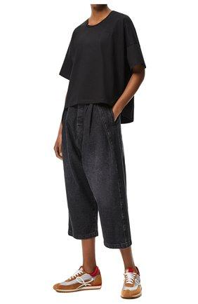 Женская футболка LOEWE черного цвета, арт. S359341XA4 | Фото 1