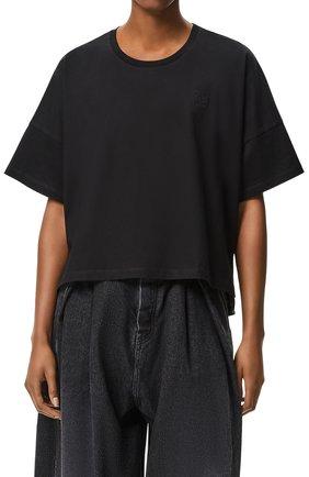 Женская футболка LOEWE черного цвета, арт. S359341XA4 | Фото 2