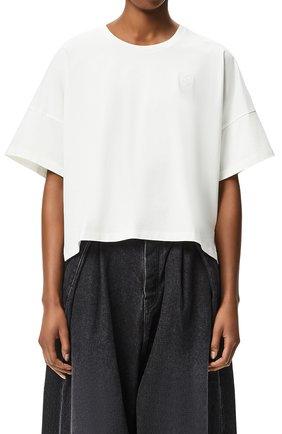 Женская футболка LOEWE белого цвета, арт. S359341XA4 | Фото 2