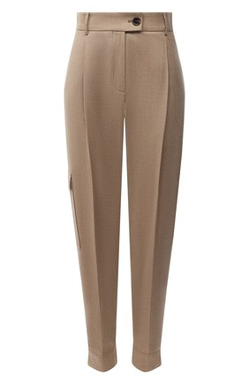 Женские брюки BOSS бежевого цвета, арт. 50437833 | Фото 1