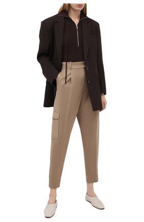 Женские брюки BOSS бежевого цвета, арт. 50437833 | Фото 2
