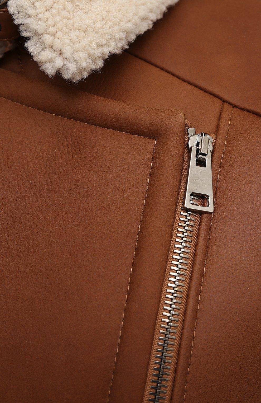 Женская дубленка MASLOV бежевого цвета, арт. WS234   Фото 5