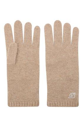 Женские кашемировые перчатки BALMUIR бежевого цвета, арт. 310005   Фото 2