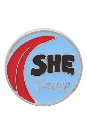 Женская значок CHLOÉ разноцветного цвета, арт. CHC20WFP11BZL | Фото 1 (Материал: Металл)