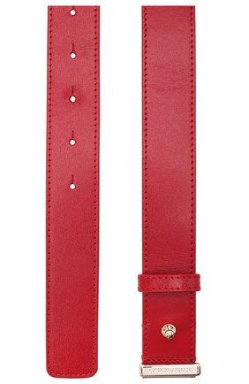 Женский кожаный ремень GIORGIO ARMANI красного цвета, арт. Y1I255/YTF4A | Фото 2 (Материал: Кожа)