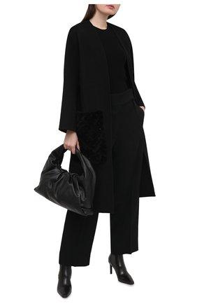 Женские кожаные ботильоны BRUNELLO CUCINELLI черного цвета, арт. MZPRC1933   Фото 2 (Материал внутренний: Натуральная кожа; Подошва: Плоская; Каблук тип: Шпилька; Каблук высота: Высокий)