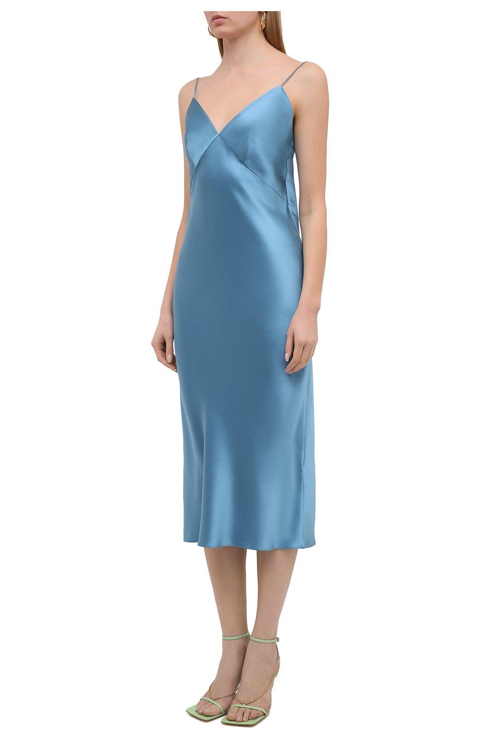 Женское шелковое платье OLIVIA VON HALLE голубого цвета, арт. PS2148 | Фото 3