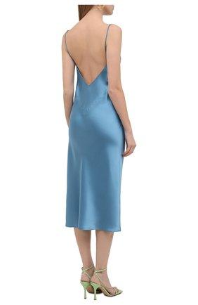 Женское шелковое платье OLIVIA VON HALLE голубого цвета, арт. PS2148 | Фото 4