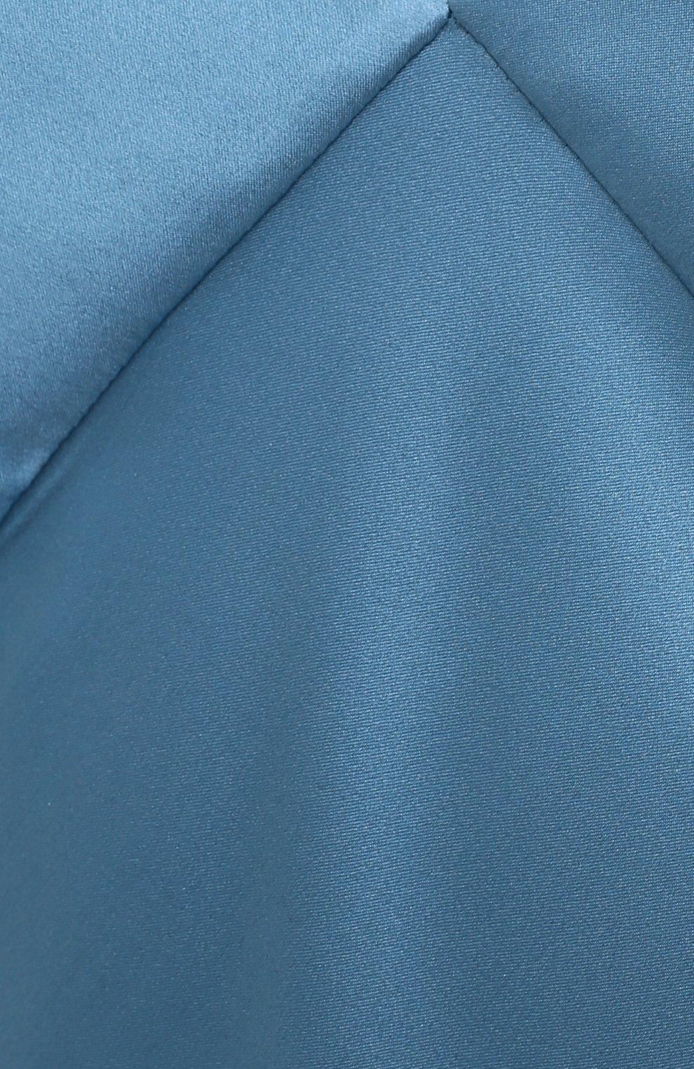 Женское шелковое платье OLIVIA VON HALLE голубого цвета, арт. PS2148 | Фото 5