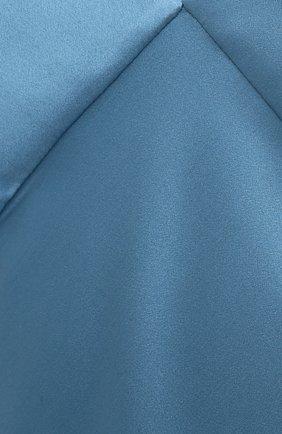 Женское шелковое платье OLIVIA VON HALLE голубого цвета, арт. PS2148   Фото 5