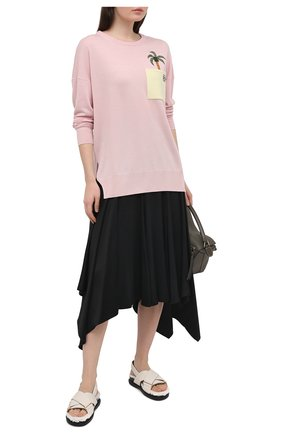 Женский шерстяной пуловер LOEWE розового цвета, арт. S897Y14K01 | Фото 2