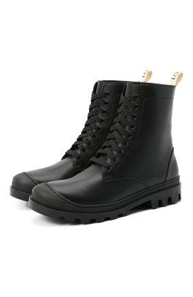 Женские кожаные ботинки LOEWE черного цвета, арт. L815285X14 | Фото 1 (Подошва: Платформа; Каблук высота: Низкий; Женское Кросс-КТ: Военные ботинки; Материал внутренний: Натуральная кожа)