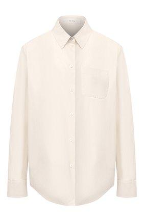 Женская хлопковая рубашка THE ROW белого цвета, арт. 5452W1764 | Фото 1