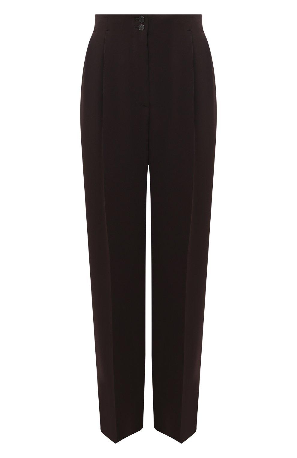 Женские брюки THE ROW темно-коричневого цвета, арт. 5475W1968   Фото 1