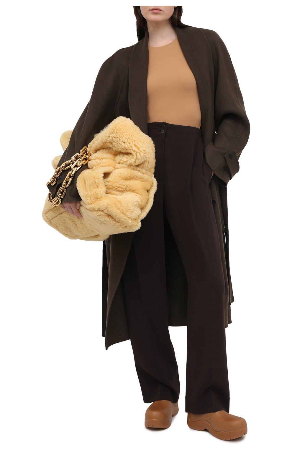 Женские брюки THE ROW темно-коричневого цвета, арт. 5475W1968   Фото 2
