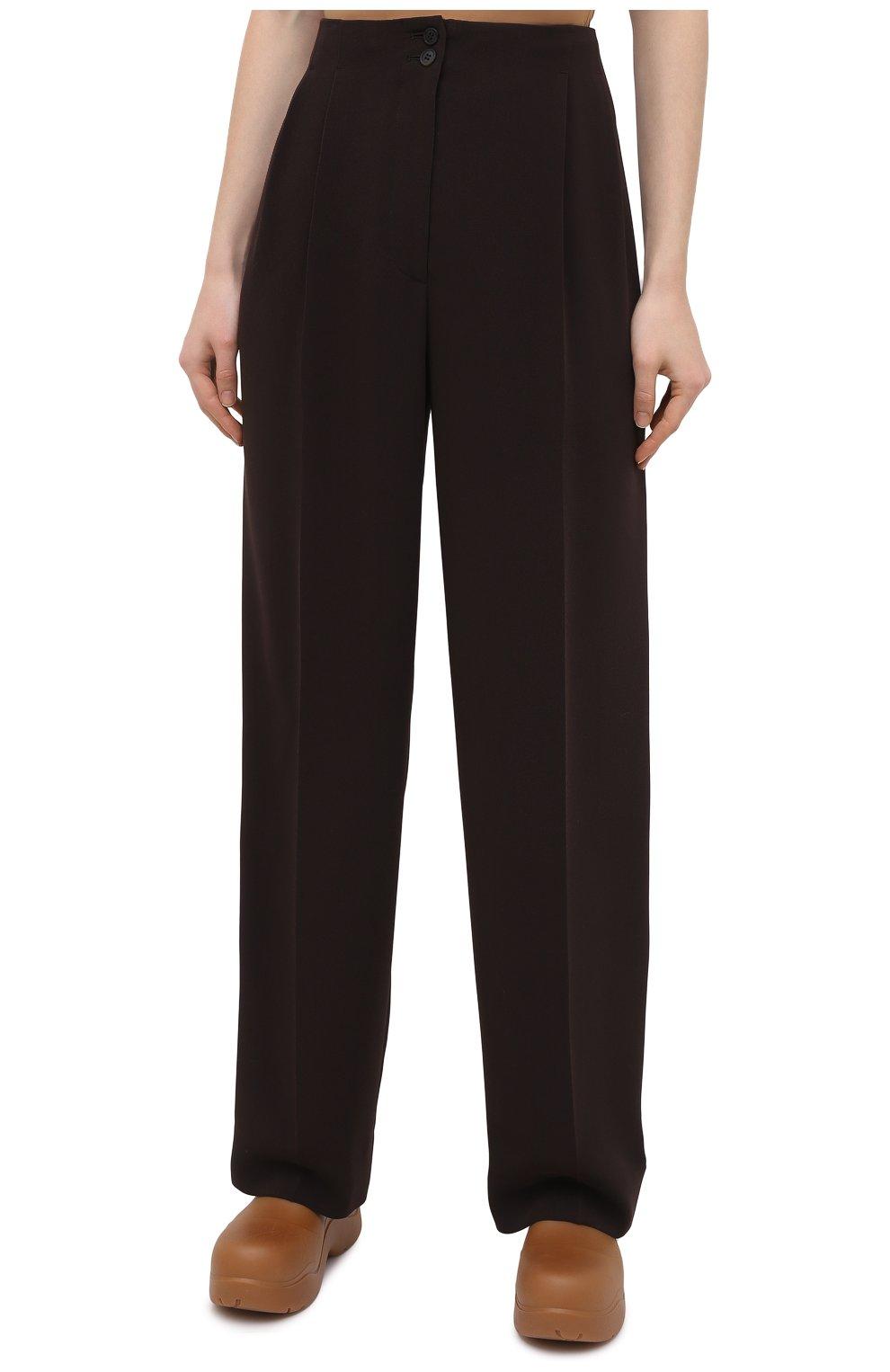Женские брюки THE ROW темно-коричневого цвета, арт. 5475W1968   Фото 3