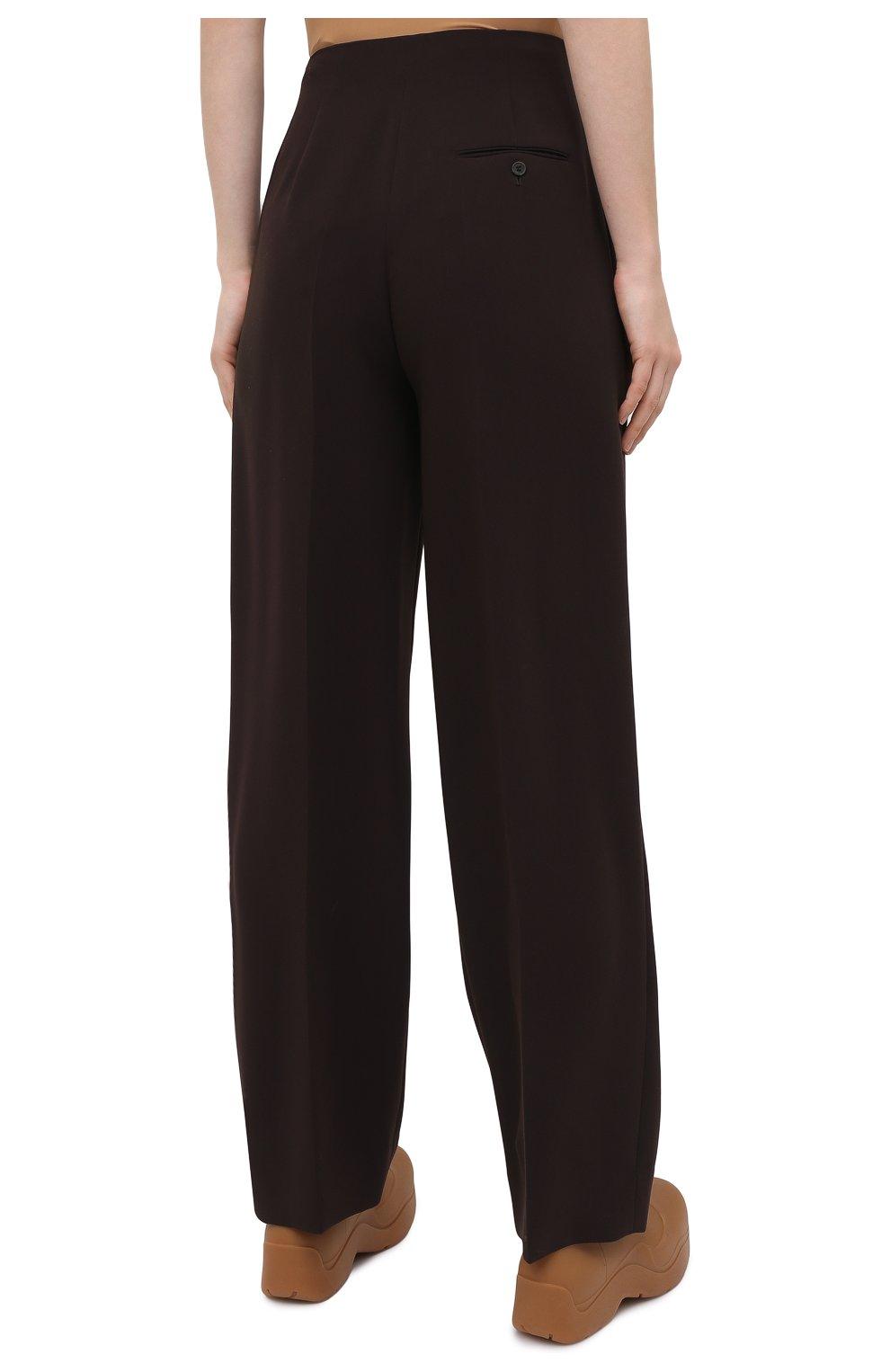 Женские брюки THE ROW темно-коричневого цвета, арт. 5475W1968   Фото 4