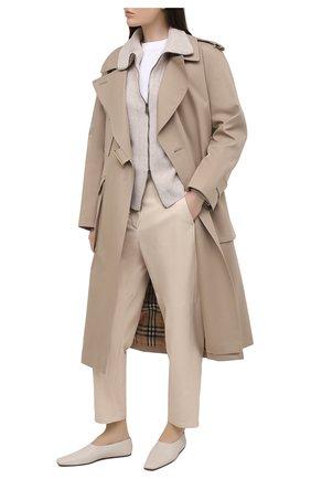 Женские кожаные брюки BRUNELLO CUCINELLI кремвого цвета, арт. M0TANP7425 | Фото 2