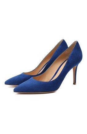 Женские замшевые туфли gianvito 85 GIANVITO ROSSI синего цвета, арт. G24580.85RIC.CAMHAWA | Фото 1