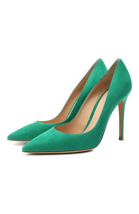 Женские замшевые туфли gianvito 105 GIANVITO ROSSI зеленого цвета, арт. G28470.15RIC.CAMEMER | Фото 1