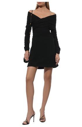 Женские кожаные босоножки manhattan GIANVITO ROSSI черного цвета, арт. G30161.15RIC.VERNER0 | Фото 2