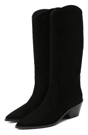 Женские замшевые сапоги GIANVITO ROSSI черного цвета, арт. G73329.45CU0.CASNER0 | Фото 1