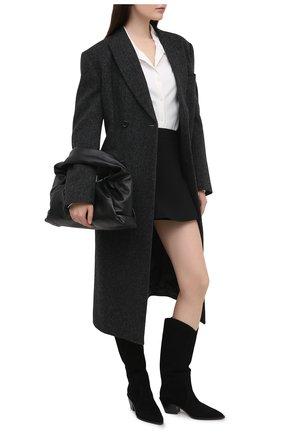 Женские замшевые сапоги GIANVITO ROSSI черного цвета, арт. G73329.45CU0.CASNER0 | Фото 2