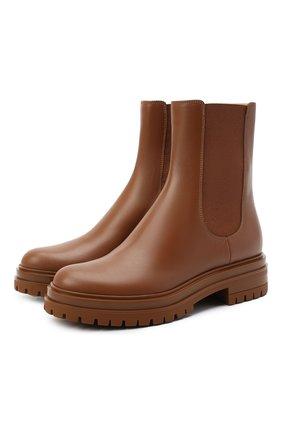 Женские кожаные ботинки GIANVITO ROSSI коричневого цвета, арт. G73462.20G0M.CLNCU0I | Фото 1
