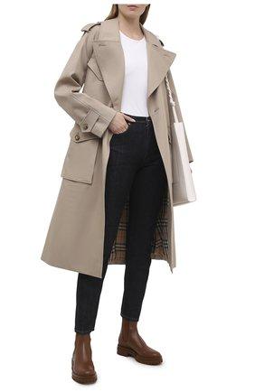 Женские кожаные ботинки GIANVITO ROSSI коричневого цвета, арт. G73462.20G0M.CLNCU0I | Фото 2