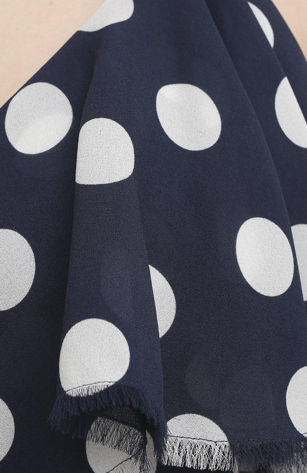 Женское шелковое платье BALMAIN темно-синего цвета, арт. VF16081/I629 | Фото 5
