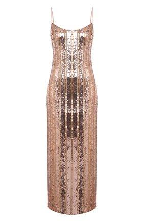 Женское платье с пайетками GALVAN LONDON золотого цвета, арт. CD1067 STRIPE MIRR0R SEQUIN | Фото 1