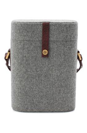 Женская сумка LORO PIANA серого цвета, арт. FAL4492 | Фото 1 (Ремень/цепочка: На ремешке; Сумки-технические: Сумки через плечо; Размер: mini)