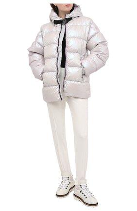 Женские хлопковые брюки KITON белого цвета, арт. D50117K09T97   Фото 2